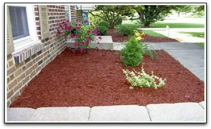 Landscape colored wood chips
